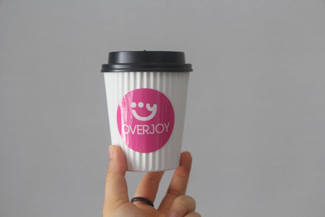 overjoy logo cup